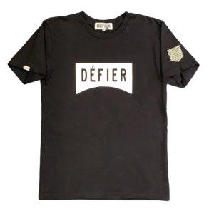 DEFIER Tシャツ BLACK正面イメージ