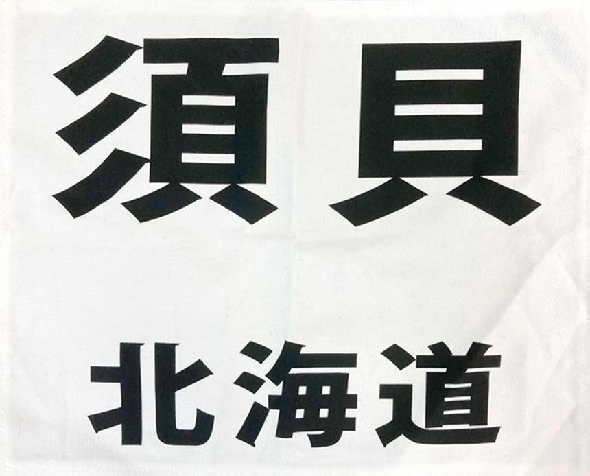 Defier-ゼッケン-ゴシック体プリント見本