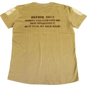 MA1 Tシャツ ベージュ 裏