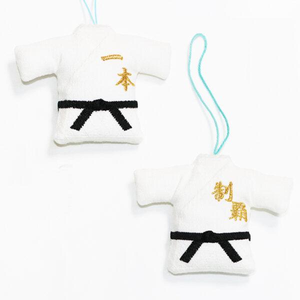 ミニ柔道衣ストラップ白